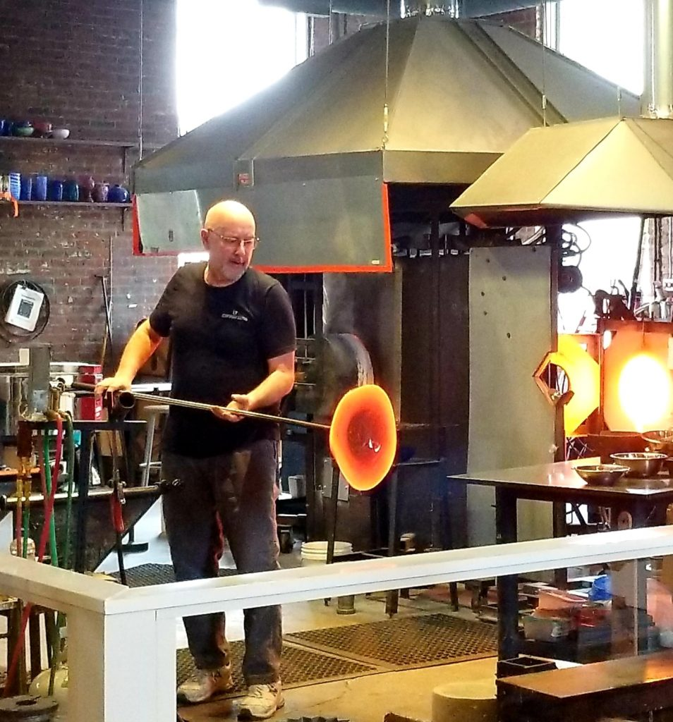 Glass-Blowing Demonstration at The Works